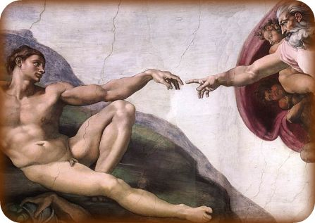 """Creation of Adam,"" Michelangelo, Sistine Chapel"