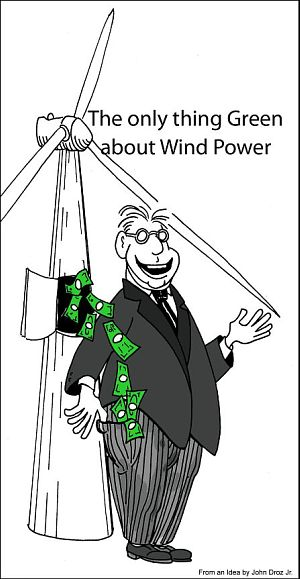 Green power cartoon