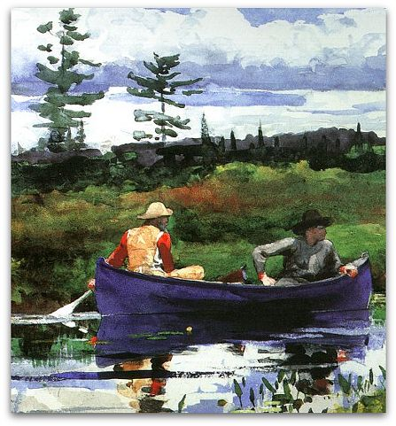 """The Blue Boat,"" watercolor by Winslow Homer"
