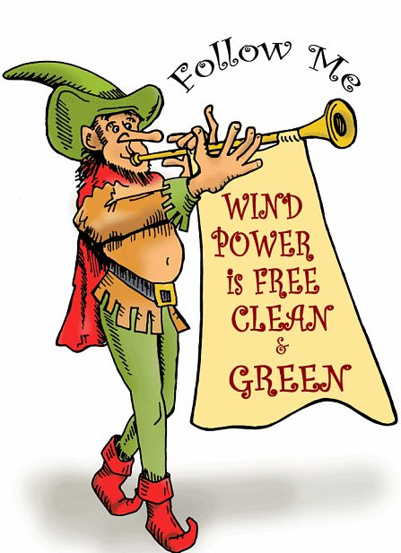 Pied piper of wind energy