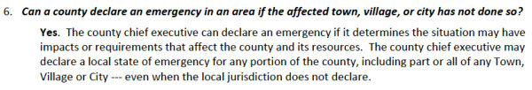 County Admin State of Emergency
